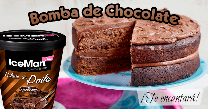 Receta Bomba de Chocolate